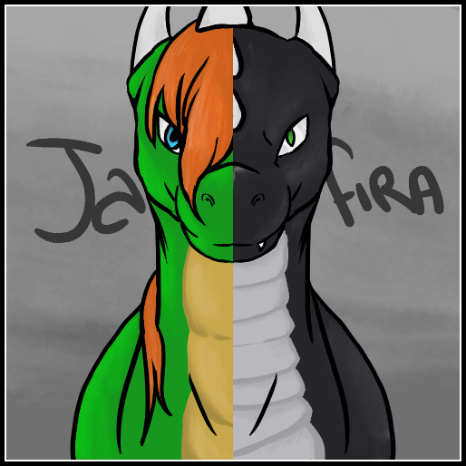 """""""This was a commission done for Jafira of their two dragons, Rashau (left) and Korageth (right)<br>Art was done by me<br>They belong to Jafira!"""" - <a href="""
