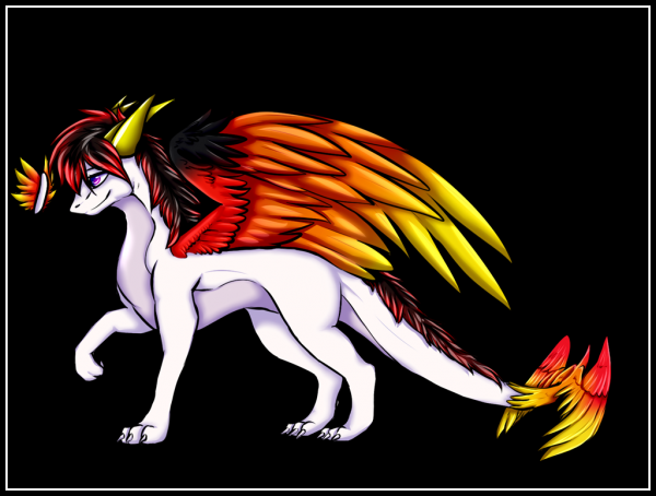 "(Kyrla's Dragon self perception)<br>""Finally finished the commission for Jafira ! <br>Pls tag your friend so she sees it <3 <br><br>And sry that it took so long i had a lot shit going down ir... Hope you like it !<br><br>ah btw i failed those claws on her wings so i somehow hid them in the feathers , if you want me to change that just tell me"" - <a href="