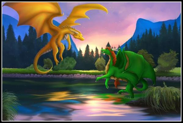 Rashau and Atmora's dragon Nakash. - <a href=