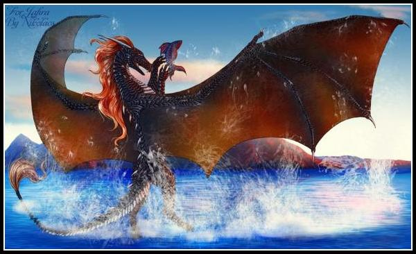 First commissioned interpretation of Korashau. A fusion of Jafira's dragons Korageth and Rashau. - <a href=